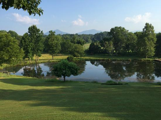 View of The Peaks of Otter from the Vanquility Acres Inn