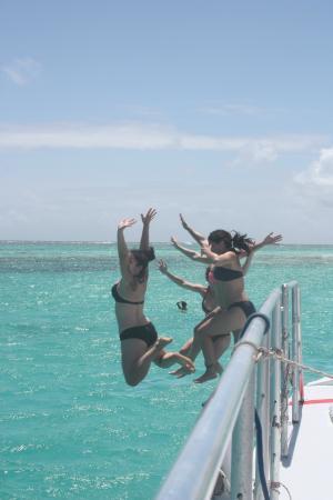bahía de Simpson, St. Maarten: Fun on Lambada trip to Prickly Pear