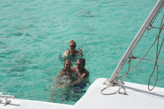 Simpson Bay, St. Maarten-St. Martin: Lambada off the coast of Anguilla for a swim