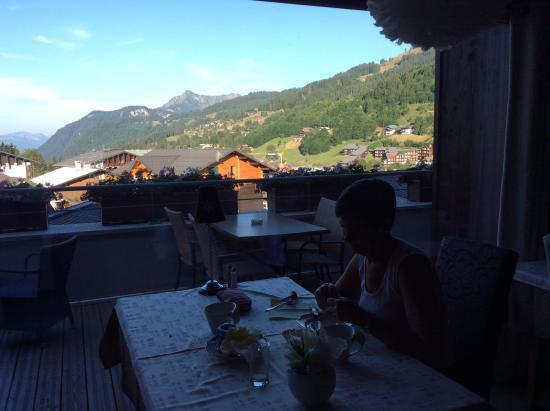 Chalet-Hotel Alpina: Vue du restaurant