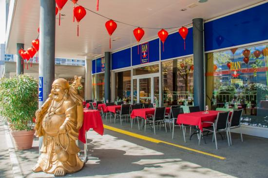 Han Mongolian Barbecue: Unsere Terrasse