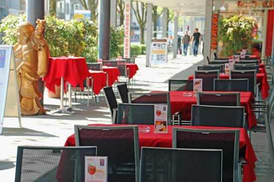 Han Mongolian Barbecue : Unsere Terrasse