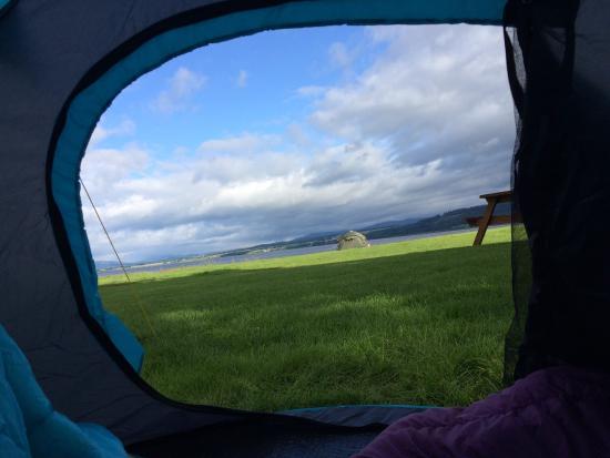 Bunchrew, UK: View from tent