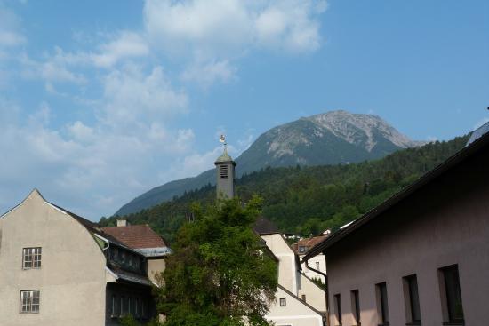 Hotel Eggerbräu: View from room balcony