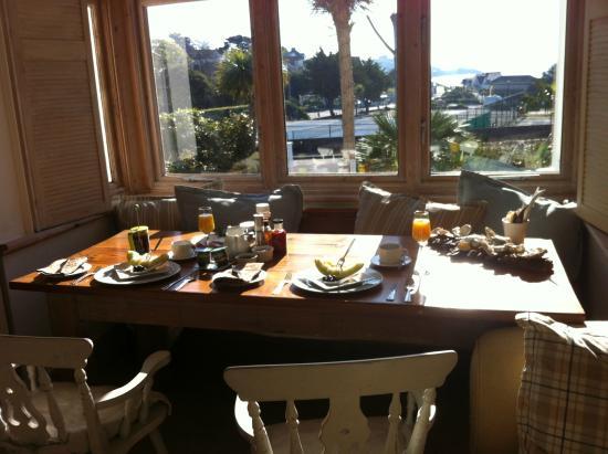 The Beach House: Ausblick beim Frühstück
