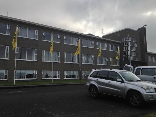 Hotel Edda Skogar: Out front