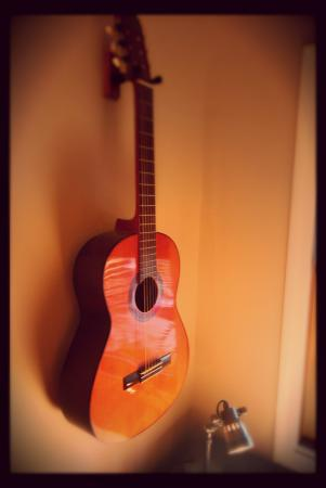 Play Guitar while staying at the Loft in downtown Granville