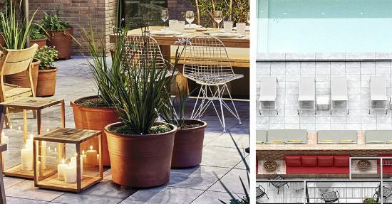 Alexandra Barcelona A DoubleTree By Hilton: Terraza-jardín y piscina exterior hotel