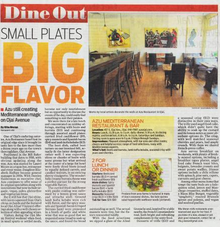Azu Restaurant & Bar : VC Reporter