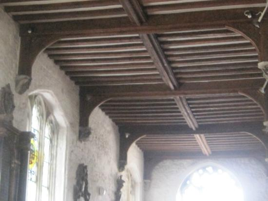 St. Dunstan's Church: Part of the roof