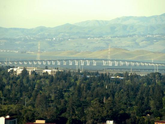Palo Alto, CA: Dumbarton Bridge - zoomed in view from the top of the Trail