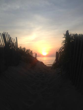 Beach Haven: sunrise from the dune