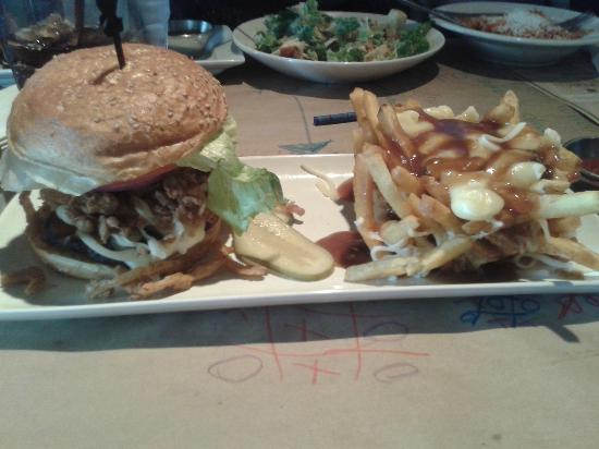 Jack Astor's: Smoky Jack Burger with poutined fries