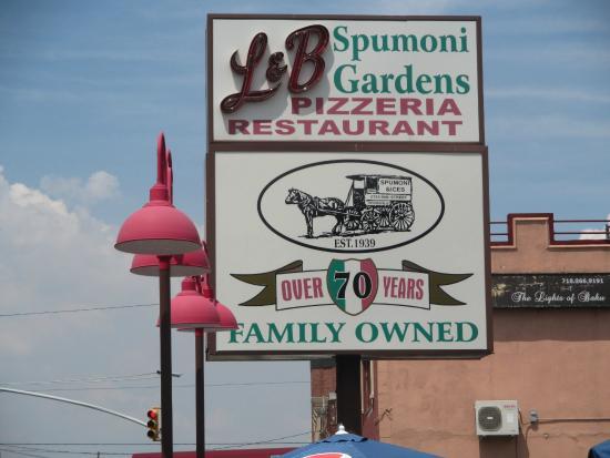The Outdoor Sign Picture Of L B Spumoni Gardens Brooklyn Tripadvisor