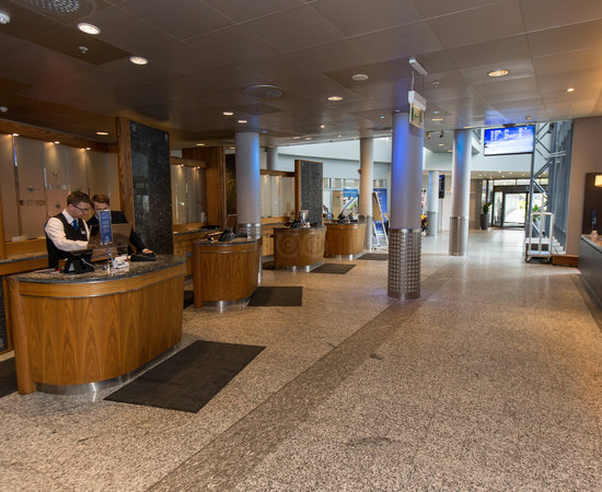 Front Desk at the Radisson Blu Airport Hotel, Oslo Gardermoen