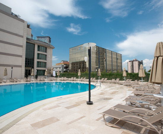 The Outdoor Pool at the Radisson Blu Hotel, Istanbul Sisli