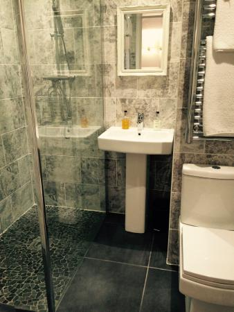 The Mill at Glynhir: Beautifully decorated Bathroom with Large Shower
