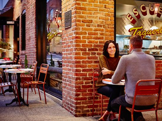 Old Pasadena's brick buildings and alleyways serve as restaurants, coffee shops, bars and retail
