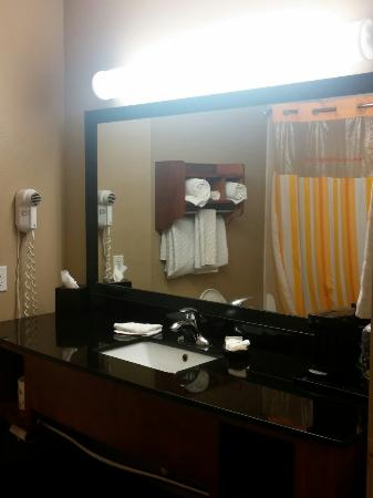 La Quinta Inn & Suites North Platte: Beautiful and bright bathroom, handicapped accessible also
