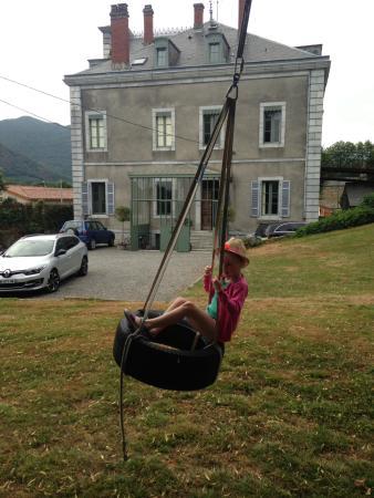 Salechan, Frankrijk: Zip wire in the chateaus garden