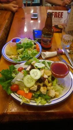 Grubsteak Mining Co.: A salad with a side salad, healthy :) Good sauce with the salad