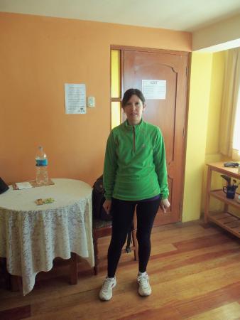 Casa de Mama Cusco - 2: En la habitación preparandonos para salir para Chinchero, Maras, Moray y Ollanta.