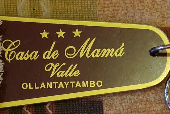 Casa de Mama Cusco 2-The Ecohouse: Llavero del hotel de Ollanta