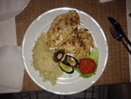 Kylling filee og Irisk kaffe på restaurant Jure, Podstrana