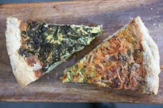 Coffee + Food: spinach and bacon quiches