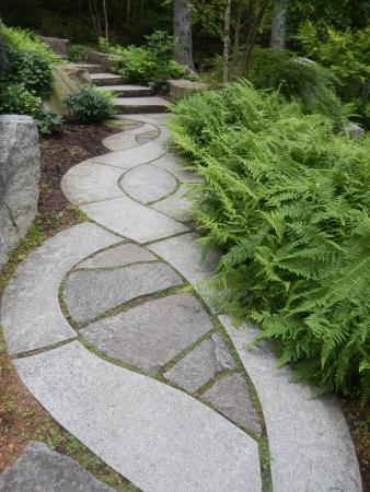 Exceptional Coastal Maine Botanical Gardens: Meditation Garden Walking Path