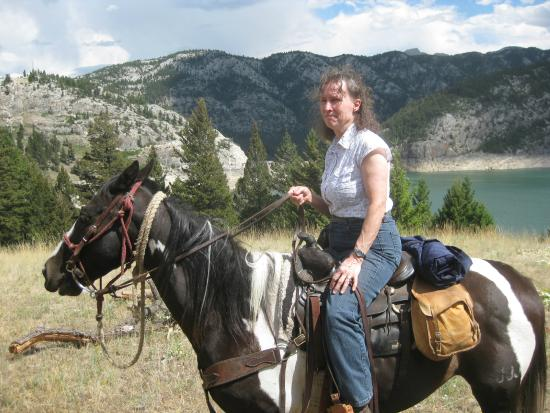 JJJ Wilderness Ranch: Wife still on horseback.