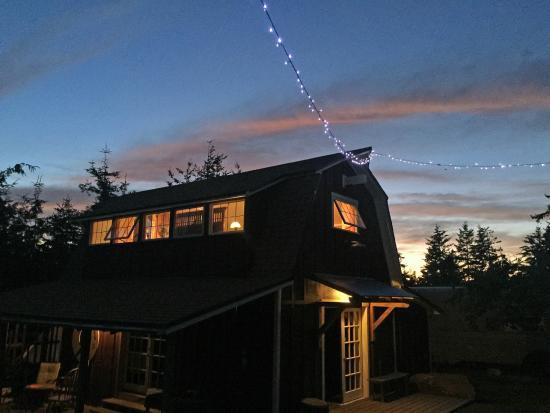 Golden Tree Hostel: barn in evening