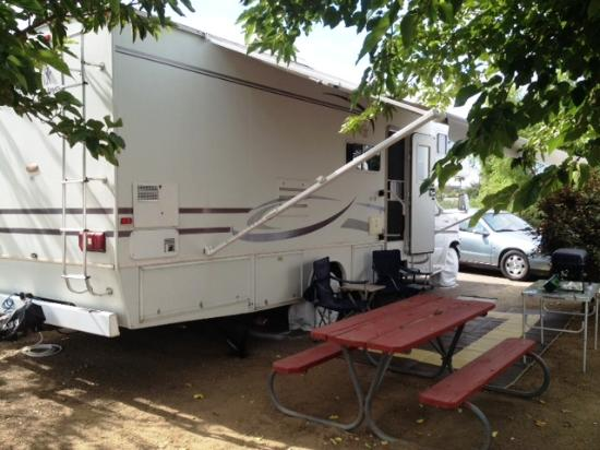Amazing Santee Lakes Recreation Preserve: Shady RV Patio