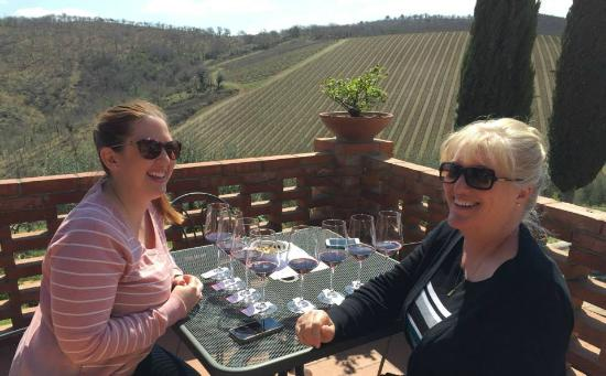 Just in Tuscany  Day Tours: Enjoying our wine tasting