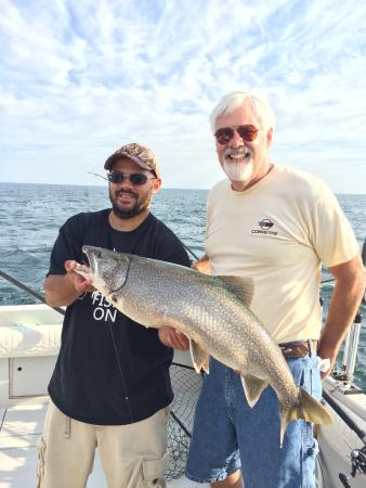 Henderson Harbor, État de New York : July 2015 Saiff Charters: No better outfit for guaranteed giant fish.  Even had three on at once