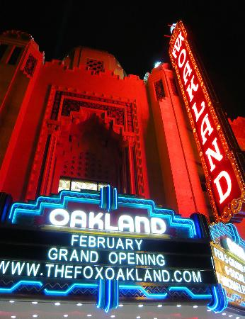 Oakland, CA: Historic Fox Theater lit up