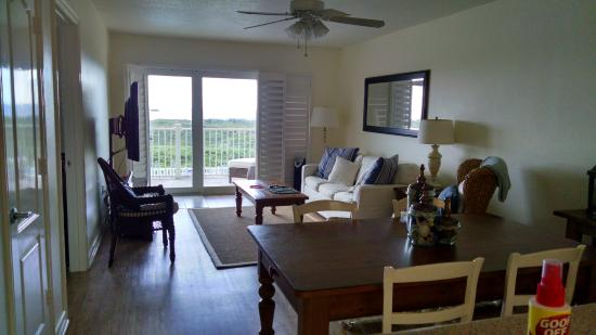 Grand Caribbean at Dune Crest: Dining and interior area of a condo unit