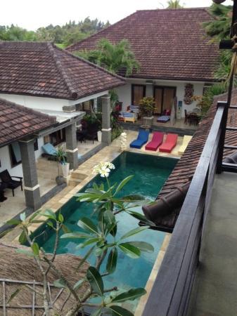 Balam Bali Villa: view from the breakfast area