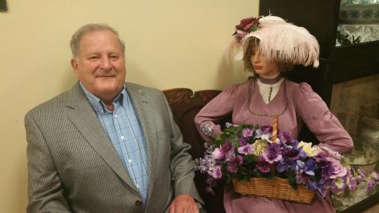 """Greenwood Museum: Mayor Ed SMITH of Greenwood with his """"wife"""" in the museum"""