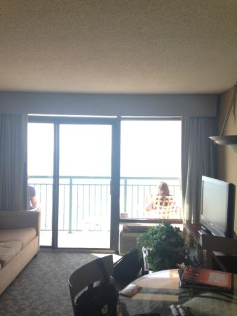 Sandcastle South Beach Resort: Staying room and balcony