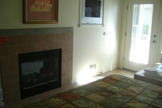 Harbor Lights Resort : fireplace