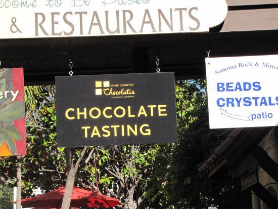Wine Country Chocolates: plaza