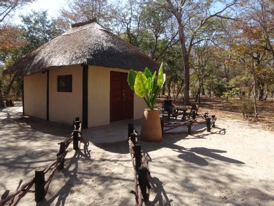 Bush chalet permanent tent picture of gwango elephant for Permanent tent cabins