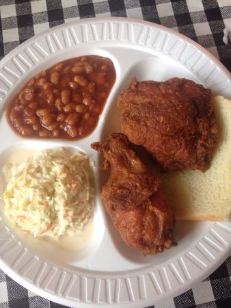 Gus\u0027s World Famous Fried Chicken Sweet potato pie chicken plate and fried green tomatoes & Sweet potato pie chicken plate and fried green tomatoes. - Picture ...