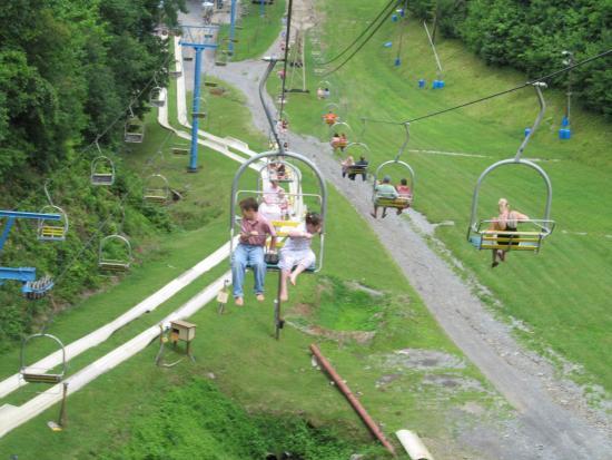 Ober Gatlinburg Amusement Park U0026 Ski Area: Chairlift And Alphine Slide