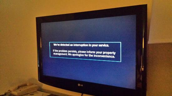 Boarders Inn and Suites by Cobblestone Munising: Frustrating Tv interruptions