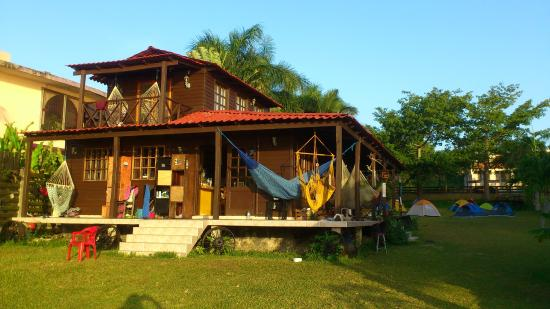 Hostal picture of green monkey hostel bacalar bacalar for Villas wayak bacalar