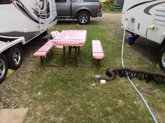 Mesa Campground : SEWER LINE right outside your camper door and on top of each other!