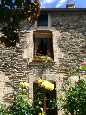 La Ferme du Pressoir: View of our room from outside