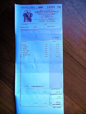 Portonovo, Italien: il conto